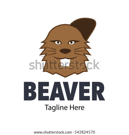 Beaver Logo Design Template Stock Vector Royalty Free 542824570