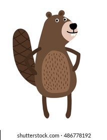 Beaver standing on two legs