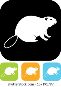 Beaver vector icon isolated