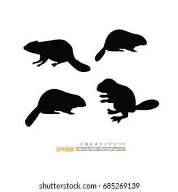 beaver.vector illustration.