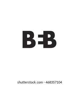 BEB Logo. Vector Graphic Branding Letter Element. White Background