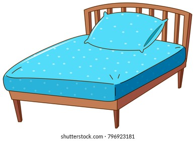 pillow clipart images stock photos vectors shutterstock https www shutterstock com image vector bed blue pillow sheet illustration 796923181