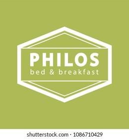 bed and breakfast logo design