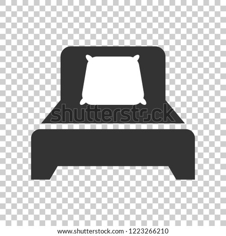Bed Icon Flat Style Sleep Bedroom Stock Vector Royalty Free