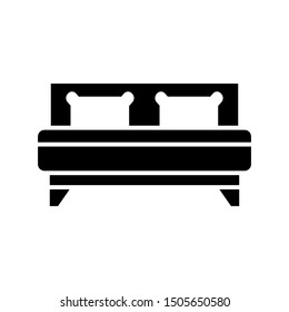 Bed Icon Vector Design Template