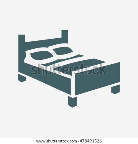 Bed Icon Vector Isolated On White Stock Vector Royalty Free