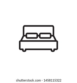 bed icon vector symbol template