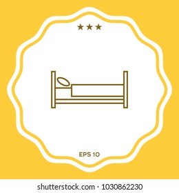 Bed line icon