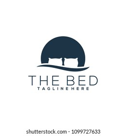 Bed logo template. Bed logo vector
