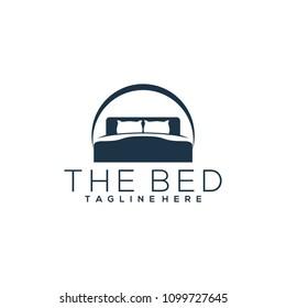 Bed logo template. Bed logo vector