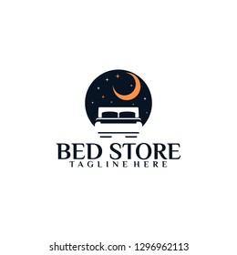 Bed Logo Template Vector