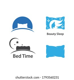 Bed and pillow stock illustration vector design