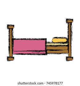Bed sleep symbol