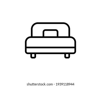 Bed vector icon, bedroom symbol. Modern, simple flat vector illustration for web site or mobile app.