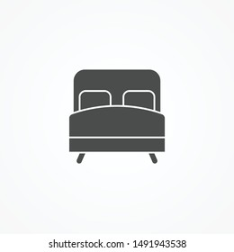 Bed vector icon sign symbol