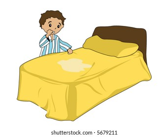 Bed Wetting  - Vector