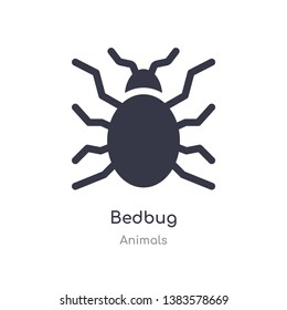 bedbug icon. isolated bedbug icon vector illustration from animals collection. editable sing symbol can be use for web site and mobile app
