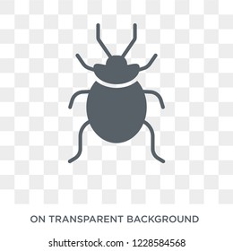 Bedbug icon. Trendy flat vector Bedbug icon on transparent background from animals  collection.