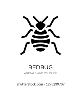 bedbug icon vector on white background, bedbug trendy filled icons from Animals and wildlife collection, bedbug simple element illustration