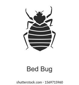 Bedbug vector icon.Black vector icon isolated on white background bedbug .