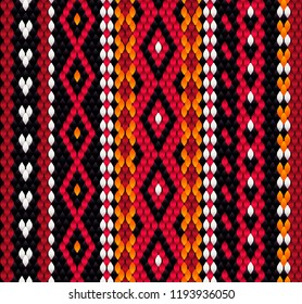Bedouin Sadu fabric pattern, traditional woven pattern,  Middle East ornament, seamless pattern, decorative background, vintage style