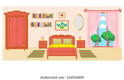 Royalty Free Inside House Cartoon Background Stock Images