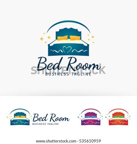 Bedroom Furniture Vector Logo Template Stock Vector Royalty Free