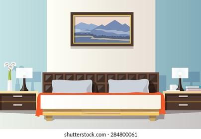 https://image.shutterstock.com/image-vector/bedroom-interior-flat-bed-picture-260nw-284800061.jpg