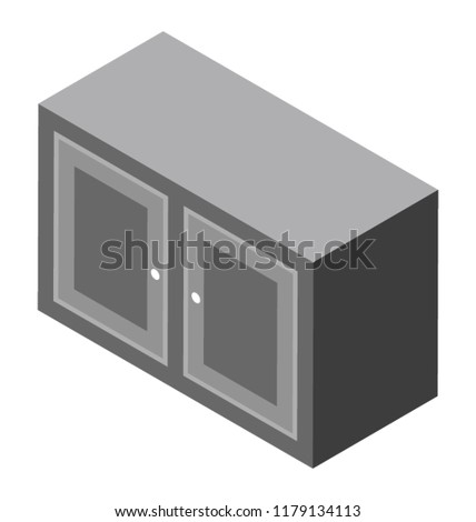 Bedside Drawer Chester Bedroom Furniture Stock Vector Royalty Free