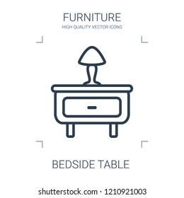 bedside table icon. high quality line bedside table icon on white background. from furniture collection flat trendy vector bedside table symbol. use for web and mobile