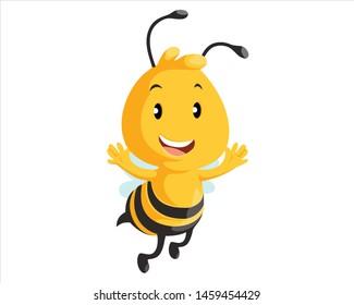 bee animal logo design vector