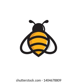 Bee Animal Logo Vector Template