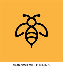 Bee art line Concepts Logo Graphic Vector Abstract Template download