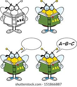 Bee Cartoon Mascot Characters. Set Vector Collection 5