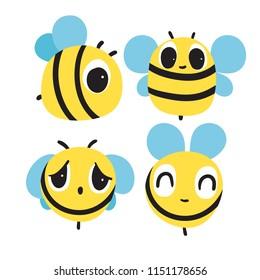 bee character vector design