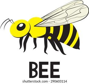 Bee Clip Art - Vector Illustration