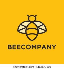 Bee Company Logo Mascot