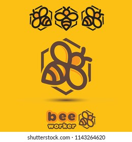 Bee concept designed in a simple way so it can be used for multiple purposes i.e. logo ,mark ,symbol or icon.