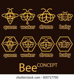 bee concept set