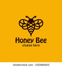 Bee concepts logo design vector graphic abstract template download