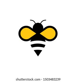 Bee concepts logo vector graphic abstract template