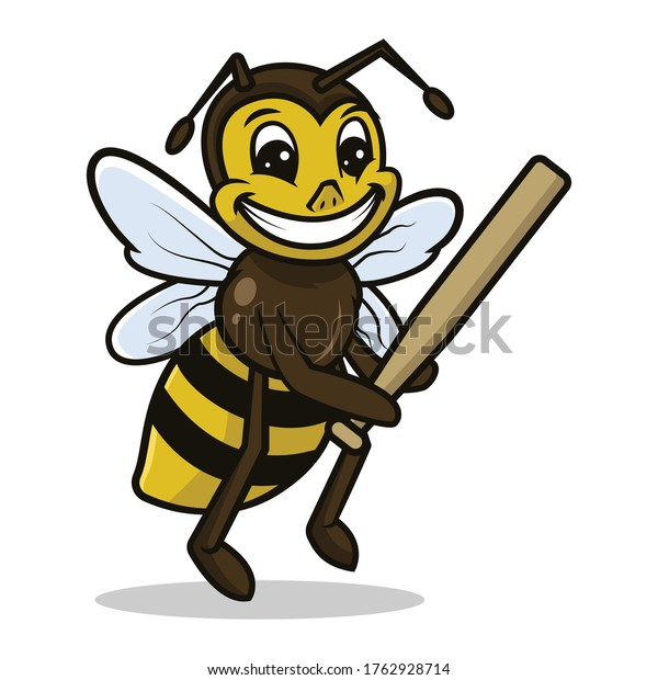 Bee cute mascot sport related design