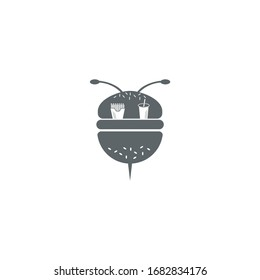 Bee Food and Drink Logo Design Icons