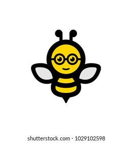 Bee Geek Logo Icon Design