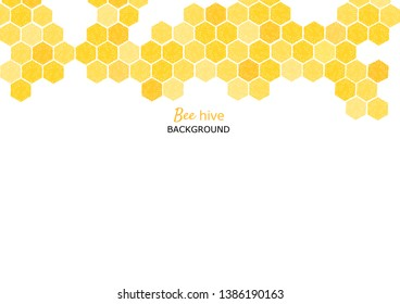 Bee hive, abstract honeycombs on white background vector illustration.