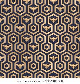 Bee Hive Hexagon Pattern Texture Design