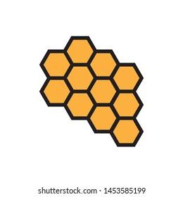 bee hive icon logo vector design template
