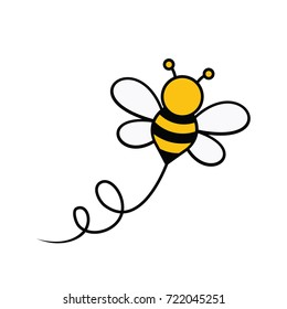 Bee and Honey Character Logo Vector