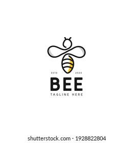 bee honey logo design concept
