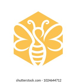 Bee and Honey Logo Vector